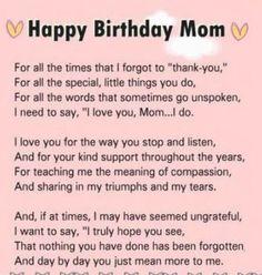 Happy Birthday Paragraph, Happy Birthday Mom Message, Birthday Greetings For Mom, Happy Birthday Mom From Daughter, Happy Birthday Mom Quotes, Mom Quotes From Daughter, Birthday Wishes For Boyfriend, Birthday Poems, Birthday Messages