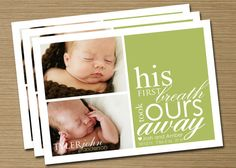 Baby Announcement Baby Girl Baby Boy Printable by CardsEtcetera, $15.50