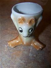 Charming Vintage Ceramic Figural Bear Egg Cup