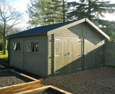 Timber Garage, Wooden Garages, Oak Framed Buildings, Car Storage, Garden Buildings, Concrete, Shed, Outdoor Structures, Garage
