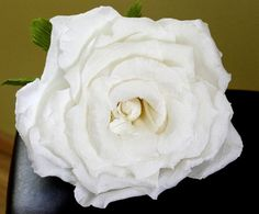 Definitely making these for my wedding :: Giant Crepe Paper Rose Large White Rose diameter by PAPERandBEAUTY