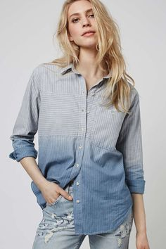 MOTO Stripe Denim Shirt