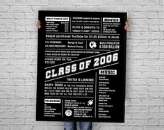 "CLASS OF 1971! This HIGH SCHOOL REUNION digital poster is filled with quick highlights from the year 1971. Please note this is an INSTANT DOWNLOAD, DIGITAL FILE ONLY. You can print it and frame it, or if you want to make a BIGGER impact, you can have it printed at an extra large scale. (Shown in the sample image at approximately 36x48"") This poster sends the classmates down memory lane with all the popular events that occurred the year they graduated!  Please CAREFULLY read the points below…"