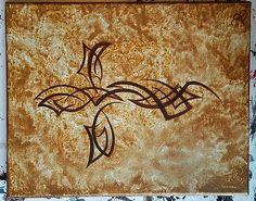 Tribal cross by Brandon Allebach