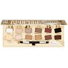 Create understated, polished looks with this beautiful theBalm nude 'tude eyeshadow palette.
