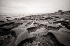 "La Jolla Tow Tide - California Black and White Beach Photography. Black and white fine art landscape print of tide pools along the shores of La Jolla, California, at low tide. TITLE: La Jolla Low Tide PAPER: Silver halide print on metallic paper SIZES: 8x12"" to 32x48"" PRINT INFO: Prints are done by a professional photo lab on the world's finest photographic paper, providing archival quality and superb colour and contrast to last a lifetime. SHIPPING: Prints require 1-2 days to be printed…"