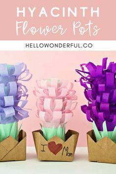 Hyacinth Flower Pot Craft. Mother's Day craft for kids.