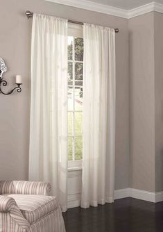 Elrene Farmhouse Living Buffalo Check Window Valance   belk Big Window Curtains, Voile Curtains, Striped Shower Curtains, Panel Curtains, Blackout Curtains, Curtain Styles, Light Filter, Window Styles, Deco