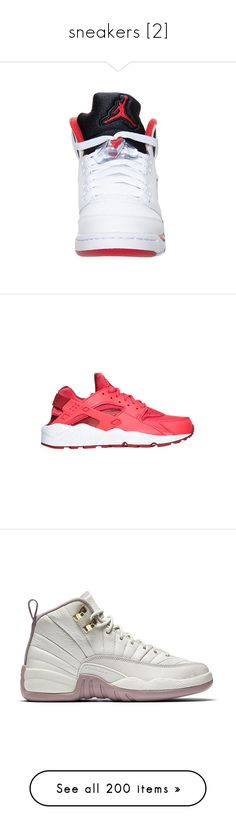 """""""sneakers [2]"""" by yeauxbriana ❤ liked on Polyvore featuring shoes, jordans, sneakers, athletic shoes, momma shoes, red, red retro shoes, leather upper shoes, native american shoes and nike athletic shoes"""