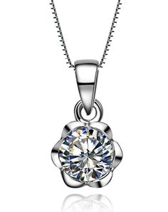 #AdoreWe #VIPme (VIPSHOP Global) SIRUIMAN❤️Designer Accessories 1CT Rose SONA Simulate Diamond Pendant Necklace - AdoreWe.com