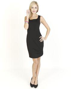 Black Dresses - Jersey Shift Black Dress - http://www.blackdresses.co.uk