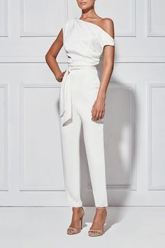 CATARINA White PANTSUIT - Shop