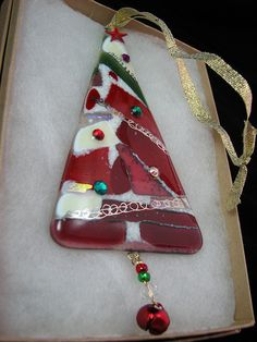 Fused Glass Christmas Ornament by Glass Elements, via Flickr