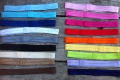 Interchangeable Satin Elastic Headbands by HayleesChicBoutique, $1.50