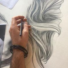 Waves #pencil #pencildrawing #drawing #art #portrait #commisions #gabrielmorenoart