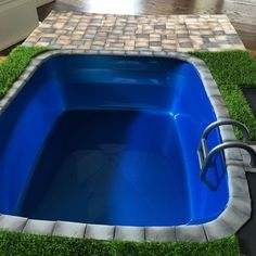 Homemade Hot Tub Using Plastic Tub As Base With Covered Cardboard To Decorate And Popsicle Stick