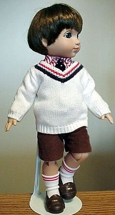 a cute boy doll. Robert Tonner's Michael doll from the Ann Estelle series of Mary Englebriet.