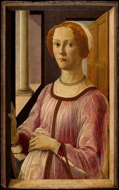 """""""Ritratto di Esmeralda Brandini"""" 1470-1471  Dimension: 65,7 x 41 cm  Victoria and Albert Museum, Londra"""