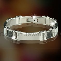 Titanium Or Stainless Steel Carbon Fiber Bracelet OATB0029 Model Number     OATB0029 Jewelry Type     Bracelets, Bangles Place of Origin     Guangdong, China (Mainland) Brand Name     OA Bracelets or Bangles Type     Chain & Link Bracelets Jewelry Main Material     Stainless Steel Main Stone     Zircon Occasion     Anniversary, Gift, Party, Other Gender     Men's, Unisex, Women's metal     stainless steel or titanium