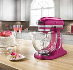 My dream is to own this beauty... Rasberry Ice Kitchen Aid Stand Mixer!!!!