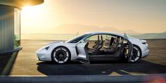 Porsche's Concept Mission E can drive 310 miles with a full charge. Porsche aims to begin production in the next five years.