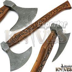 """Knives Exporter New Custom 20"""" Damascus Best Bearded Felling Hatchet / Axe 556 #Knivesexporter"""