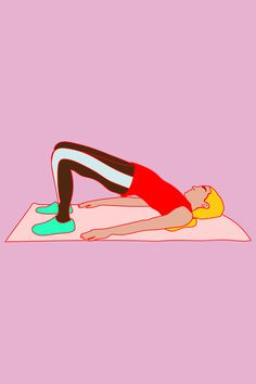 The Best Abs Exercises You're Not Doing #refinery29  http://www.refinery29.com/best-abs-workouts#slide-12  Chorus-Line Bridges (cont.)How-to: From a strong bridge position, shift your weight into one foot so you can pick up the other, extending it so that the leg is straight and the thighs are still parallel. ...