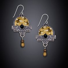 Buzzing Bees Earrings by Dawn Estrin: Silver Earrings available at www.artfulhome.com $90 @ 30.04.15