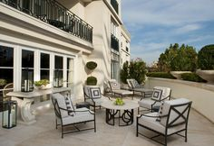 The new White Suite terrace at The Peninsula Beverly Hills