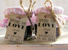 Mini Jam Jar Wedding Favours / Bonbonniere / by LittleBowThief