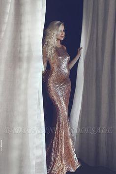 e591e200 Elegant Halter Sequins Maternity Dress Long Mermaid Prom Dress BA9081