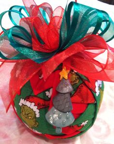 The Grinch Quilted Christmas Ornament on Etsy, $18.00