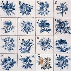 various 17th c delft tile designs the blues pinterest. Black Bedroom Furniture Sets. Home Design Ideas