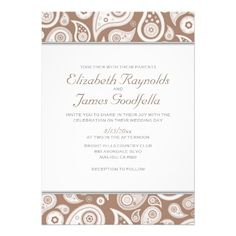 ShoppingBrown Paisley Wedding Invitations Personalized AnnouncementWe provide you all shopping site and all informations in our go to store link. You will see low prices on