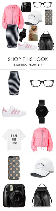 """Cute but casual"" by paganogirl ❤ liked on Polyvore featuring Topshop, Ray-Ban, adidas Originals, CLUSE, MANGO, MSGM, Kate Spade, Victoria's Secret, Fujifilm and Le Parmentier"