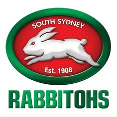South Sydney Rabbitohs Primary Logo - National Rugby League (NRL) - Chris Creamer's Sports Logos Page - SportsLogos. Basketball Jersey, Football Jerseys, Soccer, Sport Football, Australian Rugby League, National Rugby League, Creative Jobs, Creative Portfolio, Logo Sticker