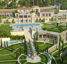 The Richest Big Mansions, Mansions Homes, Modern House Plans, Modern House Design, Billionaire Homes, Luxury Boat, Dream Mansion, Fancy Houses, Unusual Homes