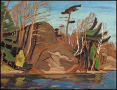 """""""October, Georgian Bay,"""" Alexander Young (A.) Jackson, oil on board, 8 x 10 private collection. Group Of Seven Art, Group Of Seven Paintings, Canadian Painters, Canadian Artists, Tom Thomson Paintings, Landscape Paintings, Oil Paintings, Landscapes, Most Famous Artists"""
