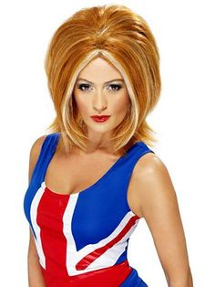 Girl Power Ginger Spice Wig Womens | Wholesale Wigs-Auburn & Red Halloween Costumes for Hats, Wigs & Masks