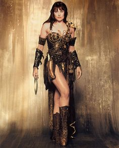 Lucy Lawless, anyone who was alive in the 90s remembers Xena....and what a trip that was ;)