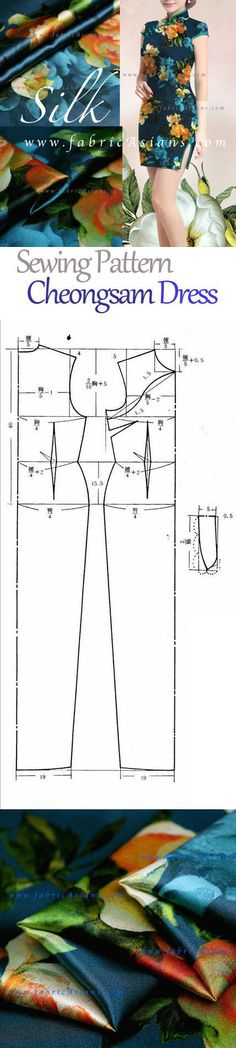 Easy Cheongsam sewing pattern PDF FREE