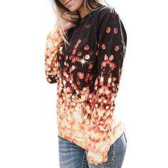 Minisoya Plus Size Women Casual T-Shirt Tie-Dye Ombre Draped Blouse Summer Strip Short Sleeve Casual Tunic Tops L-5XL