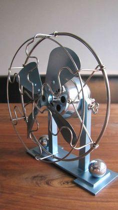 Electric Art Deco Machine Age Modernist Industrial Design Ventilator Fan AEG