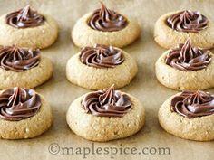 Vegan Hazelnut Espresso Thumbprint Cookies.