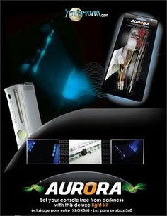Aurora vent lighting system for Xbox 360, blue
