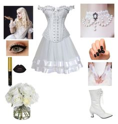 """""""The White Queen- Alice in Wonderland- Cosplay"""" by shadow-cheshire ❤ liked on Polyvore featuring Fit-to-Kill, Luxury Style, Diane James, Daisy Corsets, women's clothing, women, female, woman, misses and juniors"""