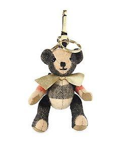 Burberry Goldtone Koala Bear Key Ring - Camel