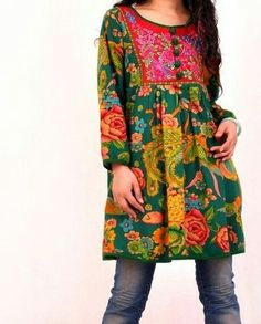 floral tunic and jeans-Boho Long Sleeve Floral Dress, Floral Tunic, Long Sleeve Shirt Dress, Floral Jeans, Indian Fashion, Boho Fashion, Fashion Blogs, Bohemian Style, Boho Chic
