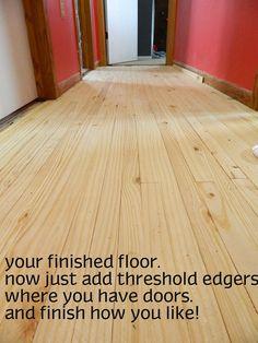 Cheap Flooring Idea: Lath Floor Tutorial