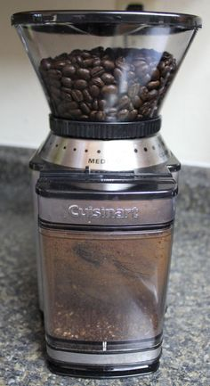 Skip grinding coffee beans at the store and use a burr mill for a fresher cup o' joe in the morning!